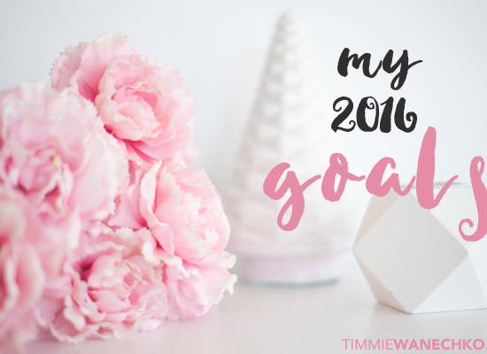 My 2016 Goals by Timmie Wanechko